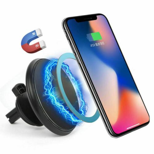 360° Mount Qi Wireless Charger Magnetic Holder For Samsung iPhone X 8