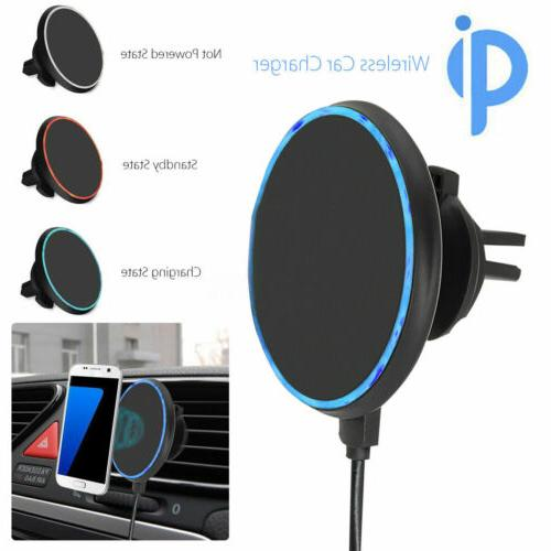 360° Car Mount Wireless Charger Holder For X 8