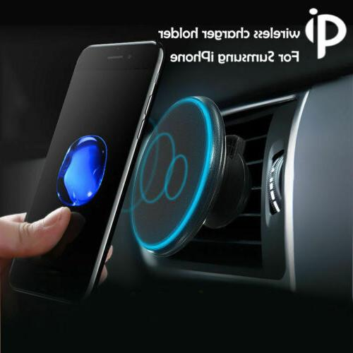 360 car mount qi wireless fast charger