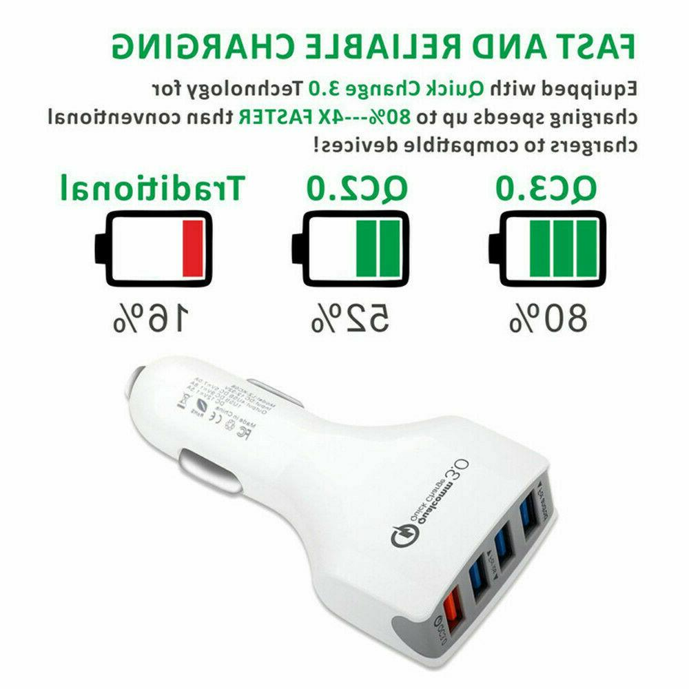 4-Port USB Charger Adapter Charging For Samsung LG