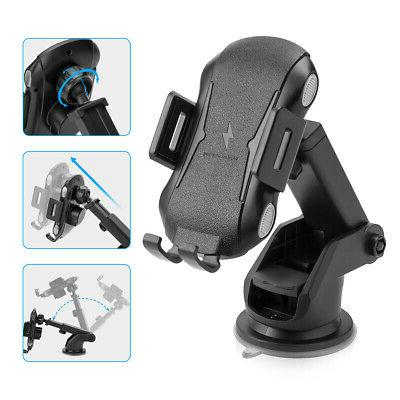 Qi Car Charger Clamping Air Vent Phone Holder