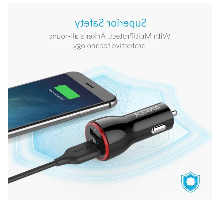 Anker 24W Car Adapter X 8 S9 S8