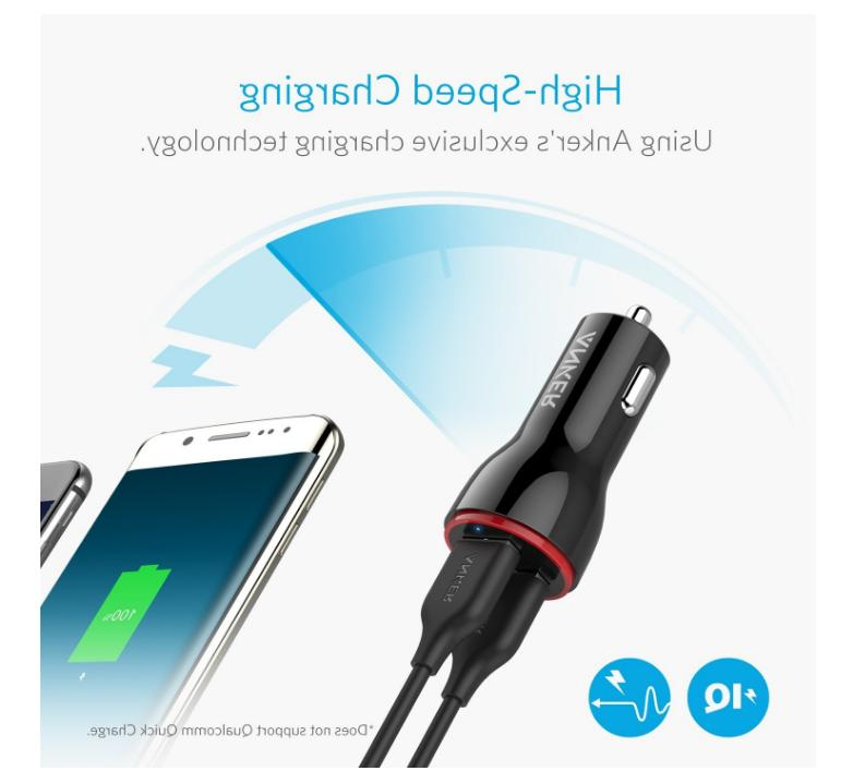 Anker 24W Car Fast 2-Port Adapter 8 S8 + New
