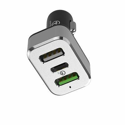 Dual USB Quick Car Charger USB C QC 3.0 For iphone 7 / 6s /