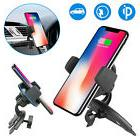 Qi Wireless Charger Car CD Slot Mount Holder For Samsung S9/