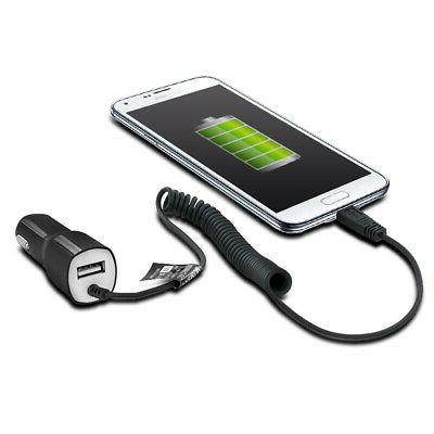 Rapid 2.1A Premium Micro USB Car Charger with USB Port - for