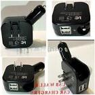 USB Wall Car Charger Combo 2.1A 2 in 1 Dual Port USB Car Cha