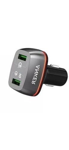 ANKER A2224H11 2 R POWERDRIVE+ DC CHARGER WITH 2 USB PORTS A