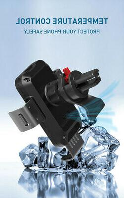 5 Car Charger QI Auto Clamping Air Vent Phone