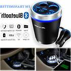 Bluetooth Car Charger LCD Display 3 Ports USB SD FM Transmit