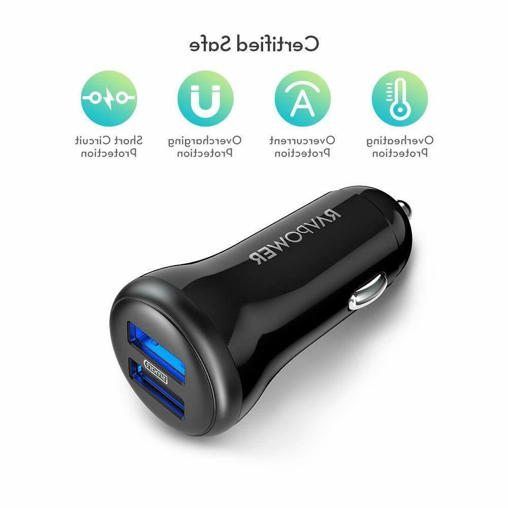 Car Charger,RAVPower 24W/4.8A USB Lighter Charger
