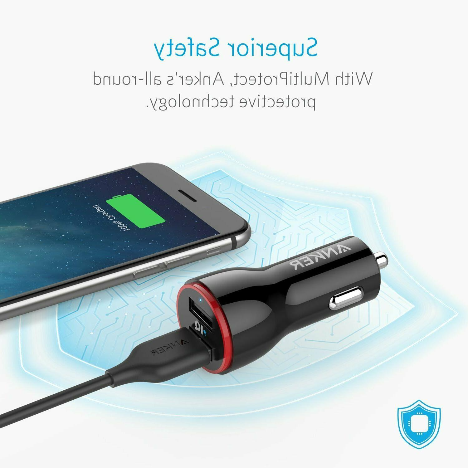anker car charger Dual for iPhone Ipad more