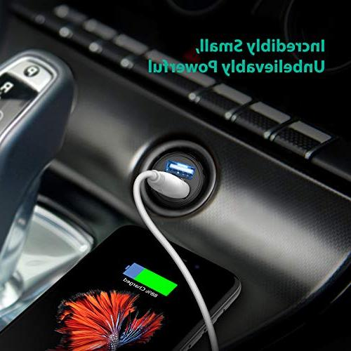 Car Charger RAVPower Car Adapter, Compatible iPhone XS XR X 8 7 Plus, iPad Pro Air and S9 Plus, and