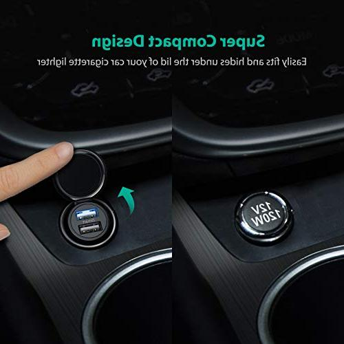 Car 24W 4.8A Car Adapter, Compatible iPhone Max X 8 iPad Pro and Galaxy S9 Plus, Edge Note and