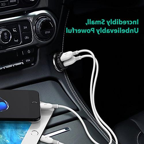 Car RAVPower 24W 4.8A Dual iPhone XS X 8 7 Plus, iPad Pro Air Mini and Galaxy S9 Plus, and