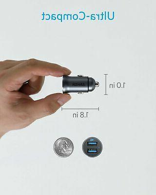 Anker Charger 24W Metal USB Alloy Flush Adapter