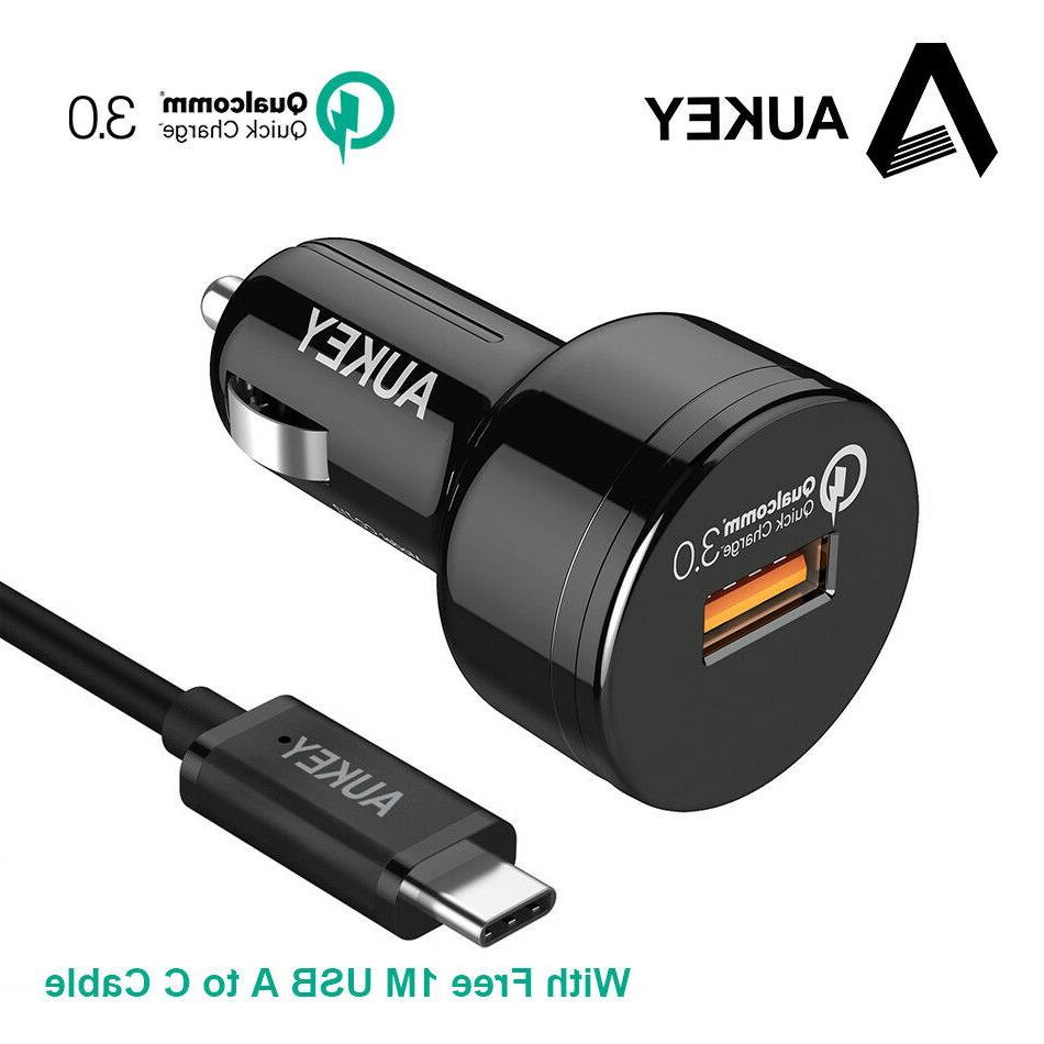 AUKEY Car Charger Quick Charge 3.0 24W USB Car-Charger Fast