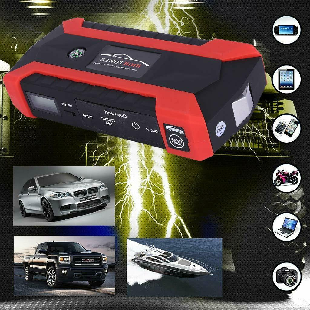 Car Jump 1000A Peak 20000mAh Portable Charger with LED