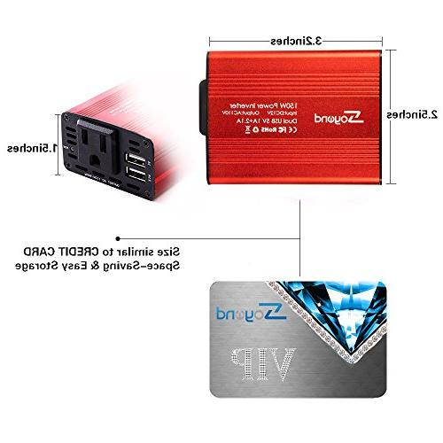 soyond 1 Red 150W Car 12V Converter Charger