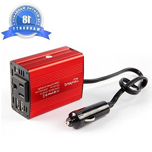 soyond 1 Car Inverter Converter 3.1A Dual USB