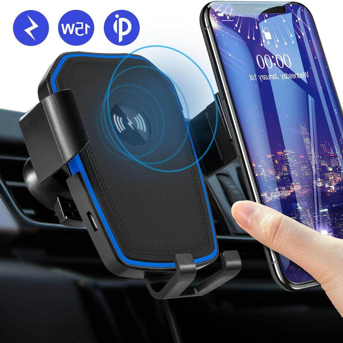 dashboard phone holder qi wireless car charger