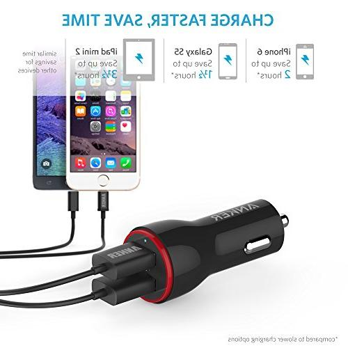 Anker Car + 3ft USB Cable Car Pro/Air 2/Mini, Note 5/4, LG, Nexus and