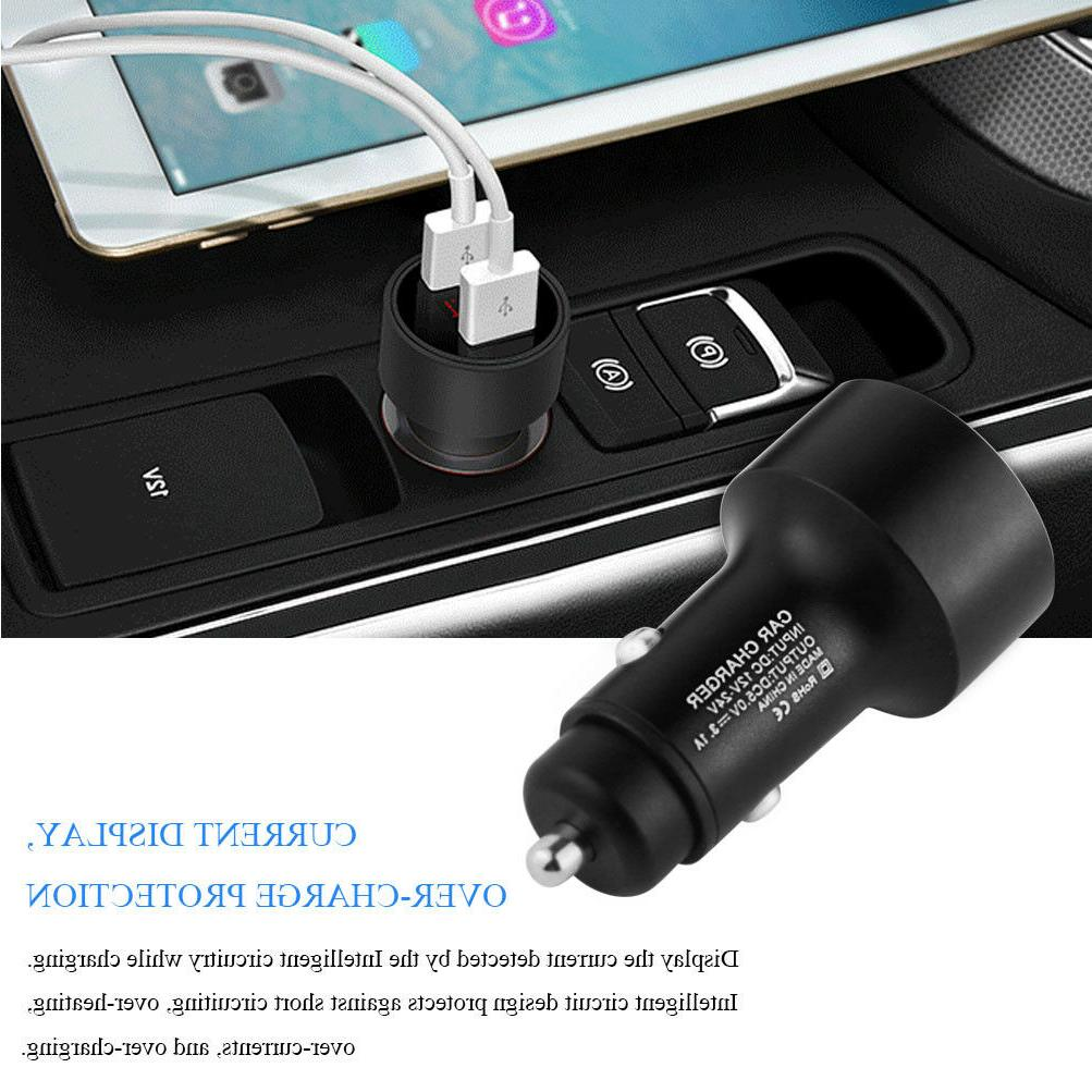 Dual Port Cell Car Charger 5V 3.1A Lighter Adapter Voltage