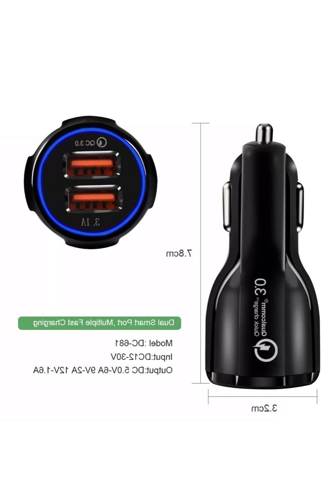 Fast Car Charger US Qualcomm Quick 2 USB Port