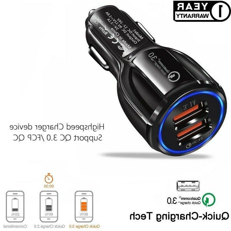 fast car charger qualcomm qc3 0 certified