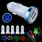 LED Car Charger + 3.3FT Type-C Cable for Samsung Galaxy Note
