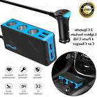 New Car Charger with 3 Sockets Cigarette Lighter Adapter Spl