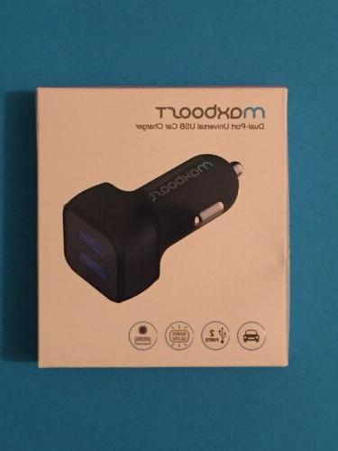 NEW Maxboost Dual-Port Universal USB Car Charger