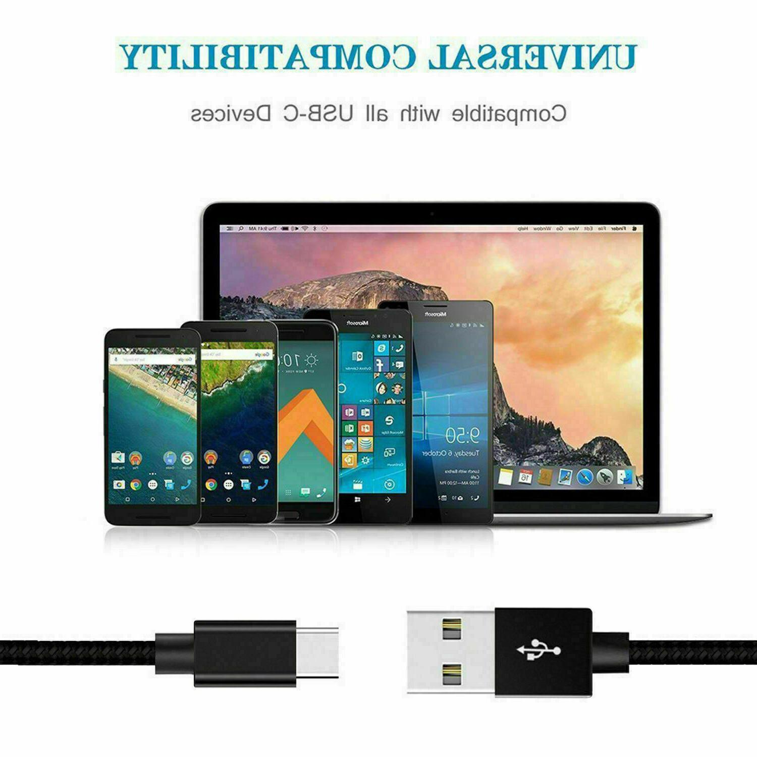 For S9 S8 Plus Fast Wall Type-C Cable