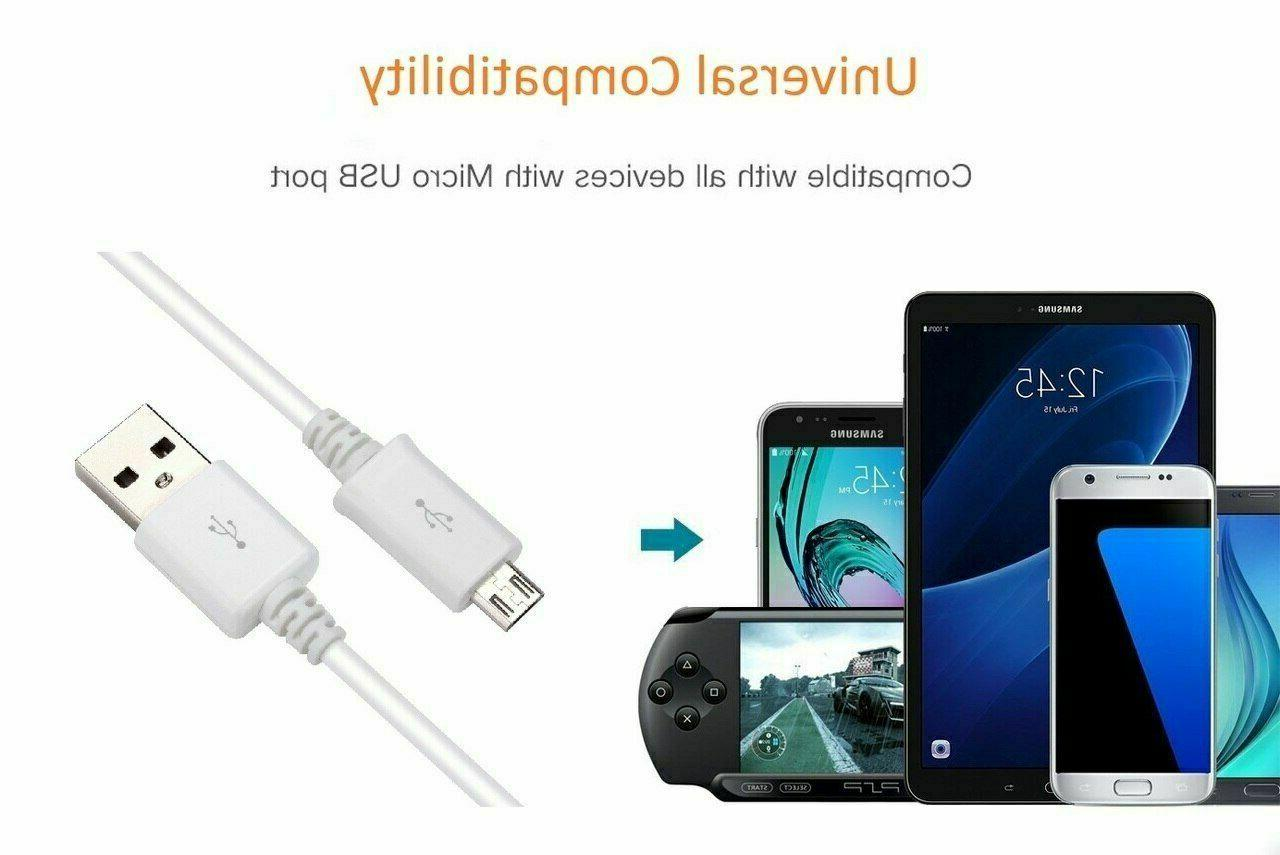 3/6/10Ft USB Fast Charger Data Cord Samsung Android LG