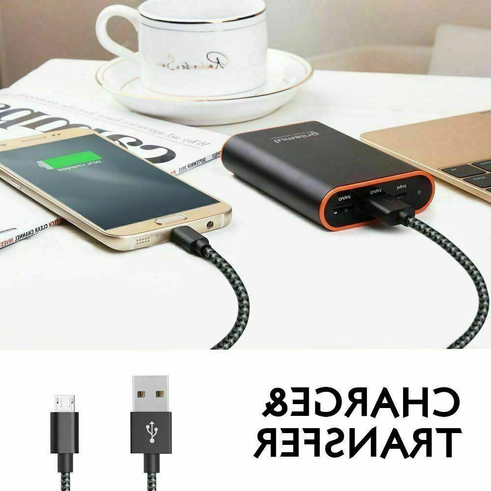 Original 4 Wall Charger 3/6/10Ft Micro Usb Cable