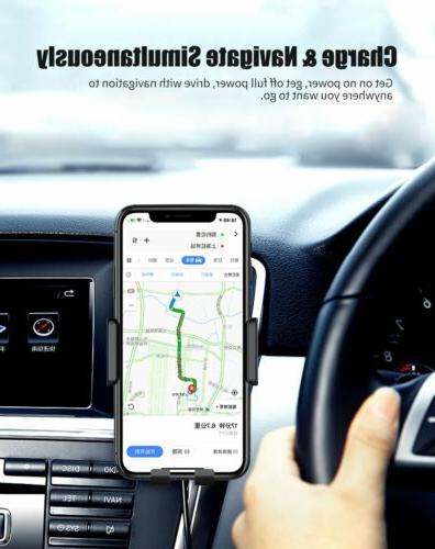 Qi Auto Wireless Charger Clamping Air Holder