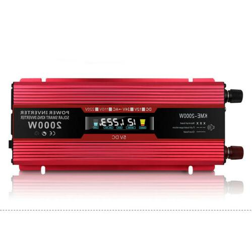 US Portable Car LCD 12V/24V to Charger