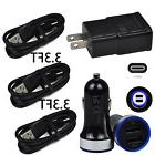 Wall/Car Charger+Type-C USB Cable for ZTE Zmax PRO X Z Max X