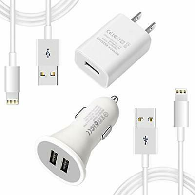 youcoulee compatible iphones charger car cable kit