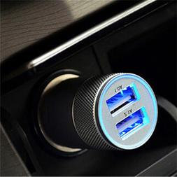 Mini 12V <font><b>Car</b></font> Dual USB <font><b>Charger</