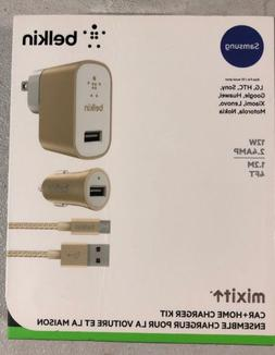 NEW Belkin Mixit Home/Car Charger Kit Micro USB