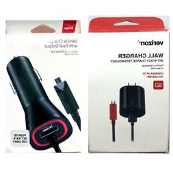 New Original Verizon Wall & Car Charger Rapid Charge Charger
