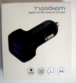 New Universal Car Charger Maxboost 4 8A/24W 2 Smart Port Car