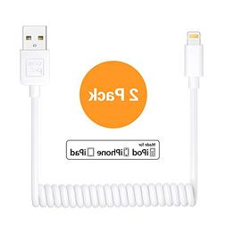onepix  Coiled Lightning Cable for iPhone , Coil Car USB Cha