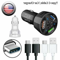 Fast Car Charger Quick Charge 3.0 Adapter Dual Port Rapid US