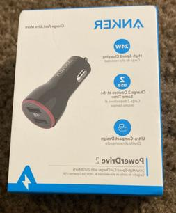 Anker Power Drive 2 24W High Speed Car Charger A2310 NEW