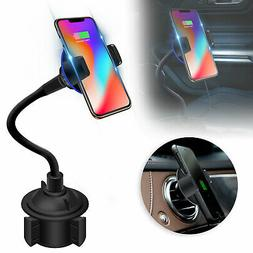 Wireless Fast Car Charger Charging Gooseneck Cup Holder For