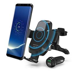 RAVPower Qi Wireless Car Fast Charger 7.5W / 10 W Phone Hold