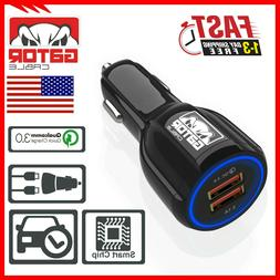Qualcomm QC 3.0 Quick Fast Car Charger Charge Dual 2-USB Por