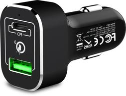 Rapid Type C Car Charger Dual Port QC3.0 for phones Quick Ch